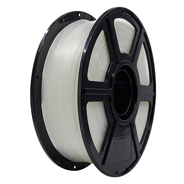 Flashforge PLA 3D Printing Filament 1.75mm 1KG/Roll for Creator Pro, Creator 3 and Guider 2 series (Transparent)