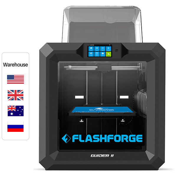 Flashforge Guider II Industrial Grade Large-Format 3D Printer, Resume Printing, Build Size 280*250*300 mm