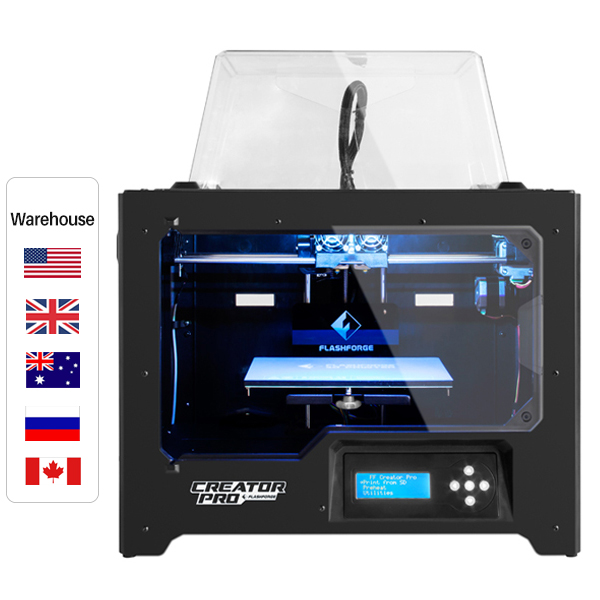 Flashforge Creator Pro Dual Extrusion Open-Sourcing 3D Printer, Build Size 227*148*150 mm