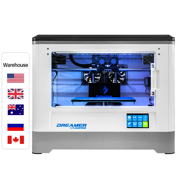 Flashforge Dreamer Easy Use Dual Extruder Fully Enclosed 3D Printer, Build Size 230*150*140 mm