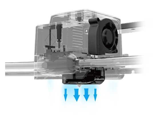 Flashforge Guider II 3d printer upgraded extruder construction | Flashforgeshop