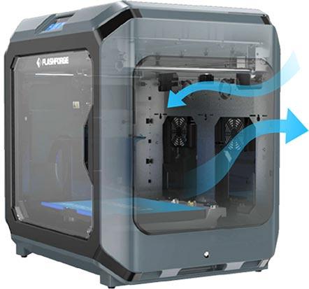 Flashforge Creator 3 3d printer 4x built-in ventilation fans | Flashforgeshop