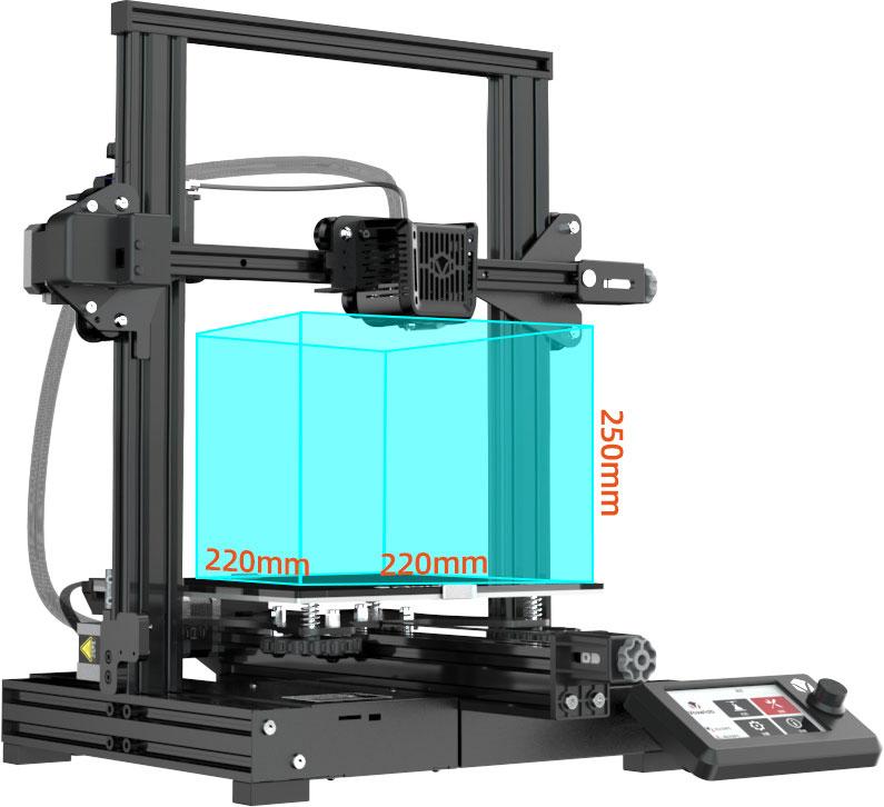 Voxelab Aquila 3d printer large build volume 220*220*250mm   Voxelab3dp