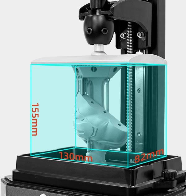 Voxelab Proxima 6.0 LCD 3d resin printer build volume 130*82*155mm | Voxelab3dp