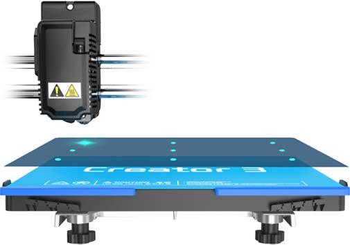Flashforge Creator 3 3d printer auto bed leveling | Flashforgeshop