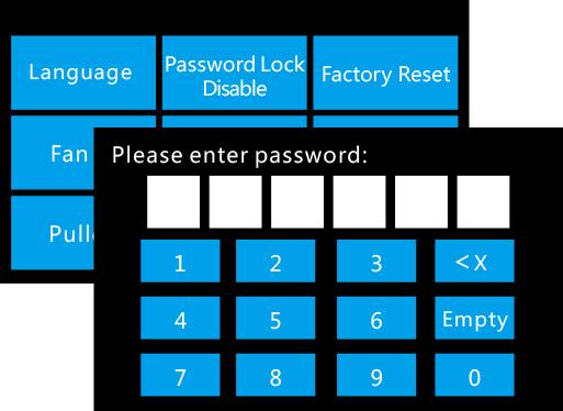 Flashforge Dreamer NX 3d printer password lock | Flashforgeshop