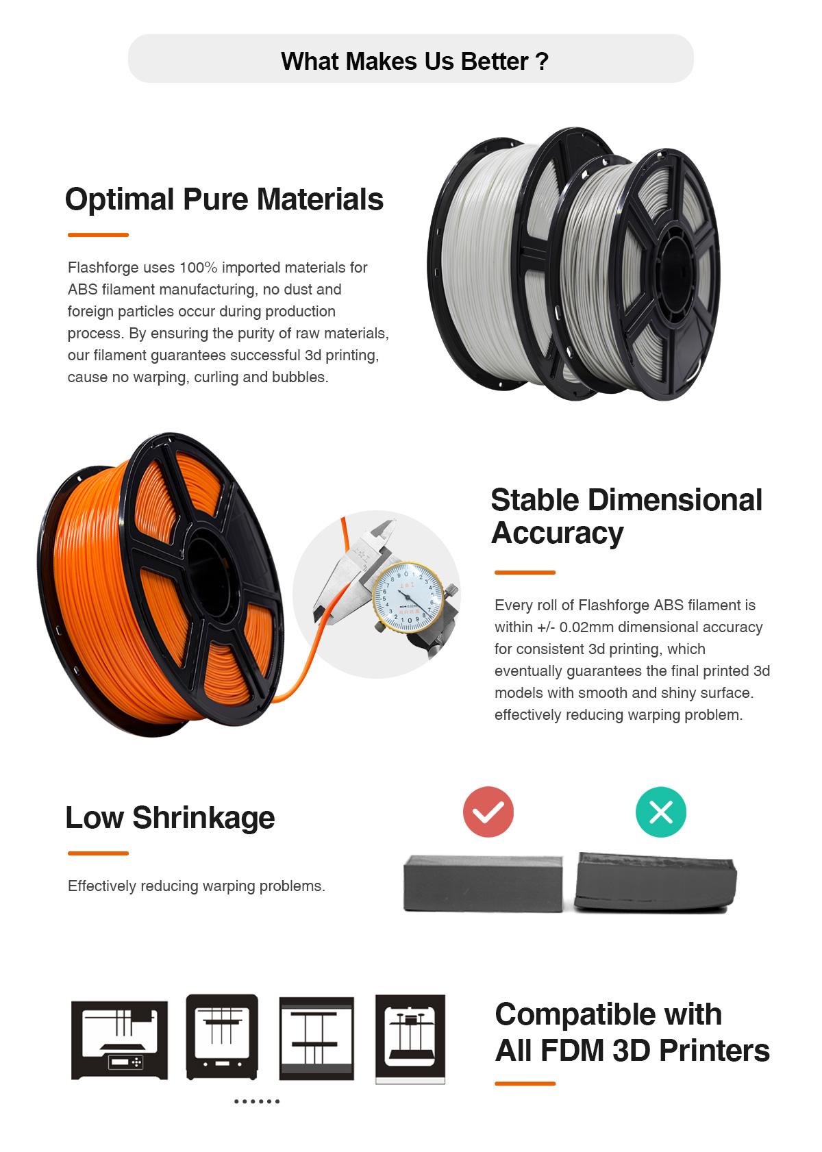 Why Flashforge ABS 3D Printing Filament? | Flashforgeshop