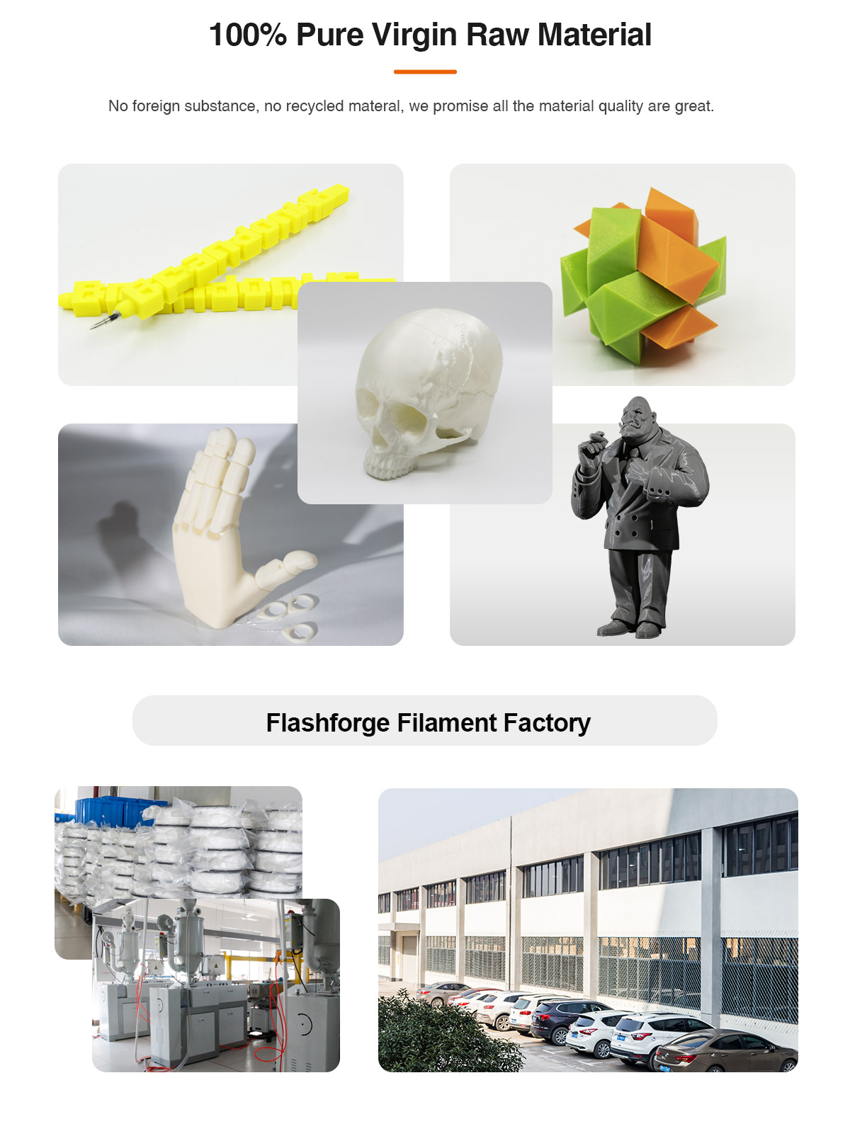 Flashforge PLA 3D Printing Filament produced with pure raw materials  | Flashforgeshop