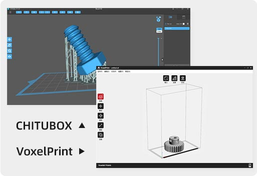 Voxelab Polaris LCD 3d printer supports CHITUBOX and VoxelPrint | Flashforgeshop
