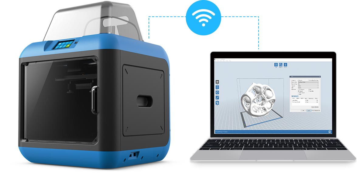 Flashforge Inventor 2s 3d printer uses Wi-Fi and USB stick to transfer 3D files | Flashforgeshop