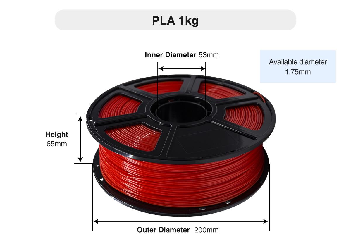 Flashforge PLA 3D Printing Filament Diameter | Flashforgeshop