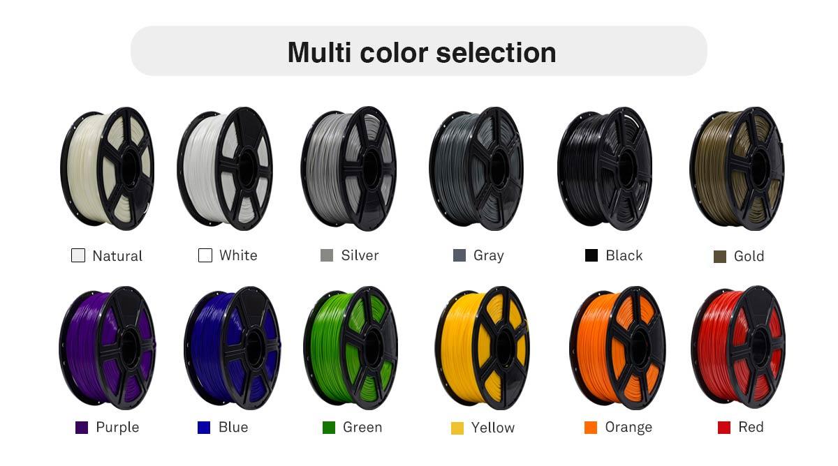 Flashforge ABS 3D Printing Filament Color Options   Flashforgeshop