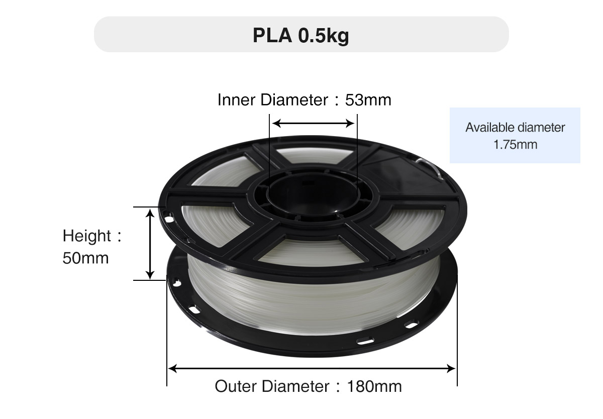 Flashforge PLA 3D Printing Filament Diameter | Flashforgeshop