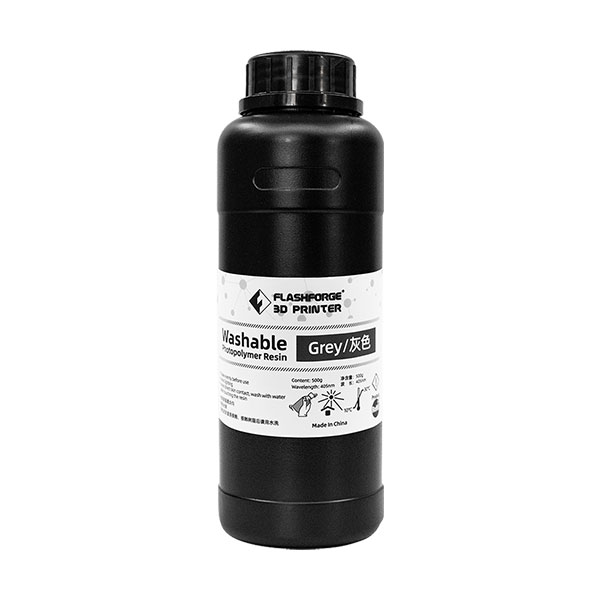 FlashForge Water Washable LCD UV Curing Photopolymer Resin (500ml)