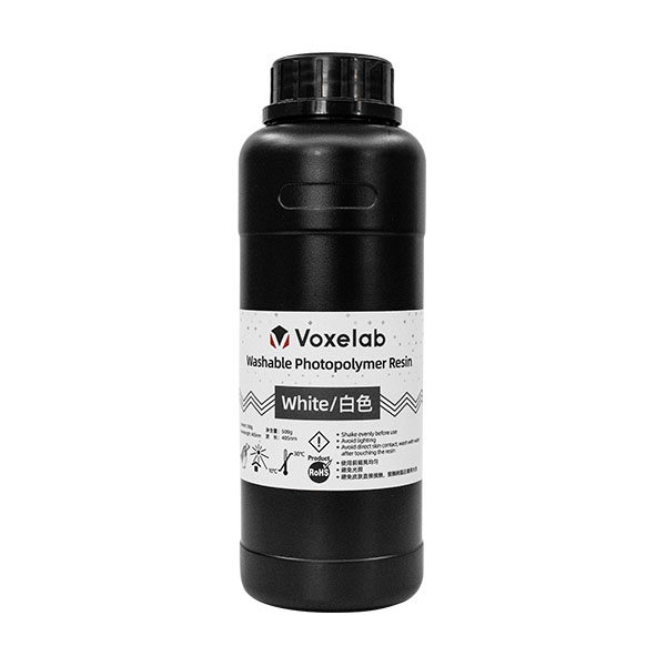 Voxelab Water Washable 405nm UV-Curing Photopolymer Resin 500g