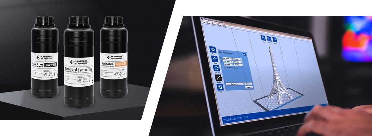 Flashforge resin and FlashDLPrint slicer
